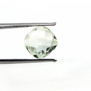 Natural Green Amethyst  3 Cts Cushion Checker Cut 10mm Loose Gemstone