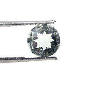 Natural Green Amethyst  5.10 Cts Round Checker Cut 10mm Loose Gemstone