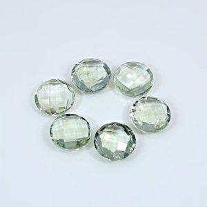 Natural Green Amethyst  5.45 Cts Round Briolette Cut 12mm Loose Gemstone