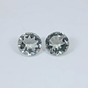 Natural Green Amethyst  7.05 Cts Round Cut 11mm 1 Pair Loose Gemstone