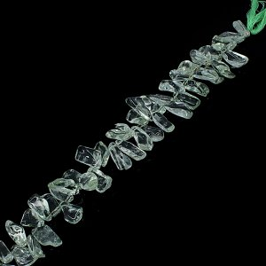 Natural Green Amethyst 10-20mm Tumble Smooth Beads 9 Inch Strand