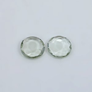 Natural Green Amethyst 10.10 Cts Oval Briolette Cut 14x10mm 1 Pair Loose Gemstone