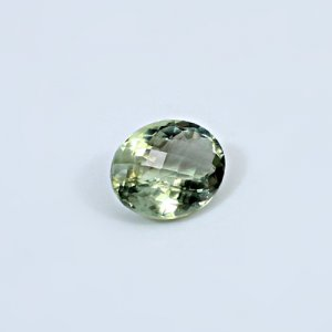 Natural Green Amethyst 10.70 Cts Oval Checker Cut 16x13mm Loose Gemstone