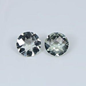 Natural Green Amethyst 10mm Round Cut 5.35 Cts 1 Pair Loose Gemstone