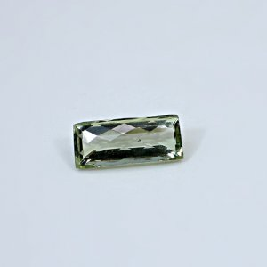 Natural Green Amethyst 12.95 Cts Rectangle Checker Cut 22x10mm Loose Gemstone