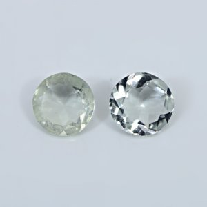 Natural Green Amethyst 12mm Round Cut 4.25 Cts Loose Gemstone