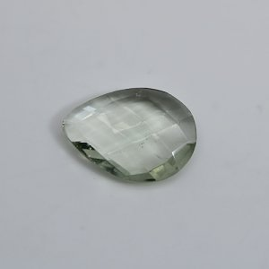 Natural Green Amethyst 18x13mm Pear Briolette Cut 6.10 Cts Loose Gemstone