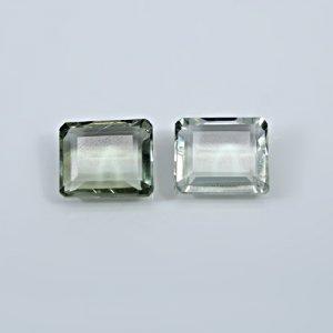 Natural Green Amethyst 19.40 Cts Octagon Cut 14x12mm 1 Pair Loose Gemstone