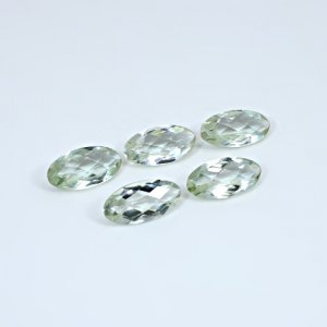 Natural Green Amethyst 29.80 Cts Marquise Checker Cut 18x9mm 5 Pcs Wholesale Lot