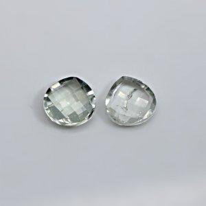 Natural Green Amethyst 6.85 Cts Heart Briolette Cut 10mm 1 Pair Loose Gemstone