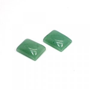 Natural Green Aventurine 16x12mm Rectangle Cabochon 24.75 Cts 1 Pair Loose Gemstone