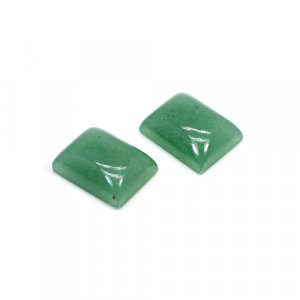 Natural Green Aventurine 16x12mm Rectangle Cabochon 25.65 Cts 1 Pair Loose Gemstone