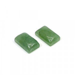Natural Green Aventurine 18x11mm Rectangle Cabochon 30 Cts 1 Pair Loose Gemstone