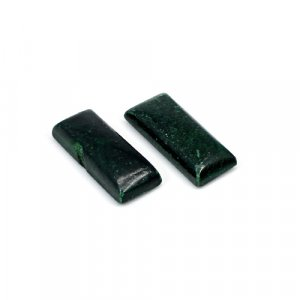 Natural Green Aventurine 22x9mm Rectangle Cabochon 30.65 Cts 1 Pair Loose Gemstone