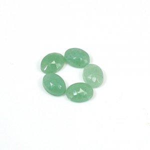 Natural Green Aventurine 3.80 Cts Oval Checker Cut 7x5mm Loose Gemstone