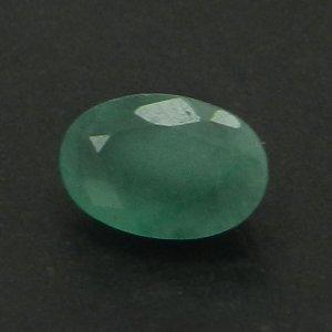 Natural Green Emerald 6X4mm Oval Cut 0.5 Cts