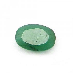 Natural Green Emerald 6x4mm Oval Cut 0.6 Cts