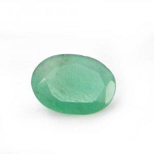 Natural Green Emerald 7x5mm Oval Cut 0.45 Cts