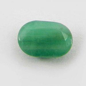Natural Green Emerald 7x5mm Oval Cut 0.9 Cts