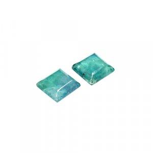 Natural Green Fluorite 12x12mm Square Cut 18.6 Cts 2 Pcs Loose Gemstone