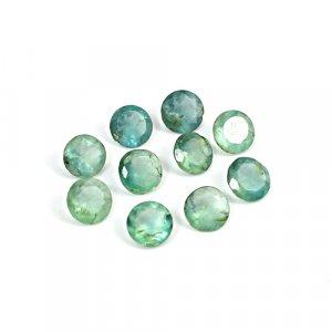 Natural Green Fluorite 6mm Round Cut 9 Cts 10 Pcs Lot Loose Gemstone