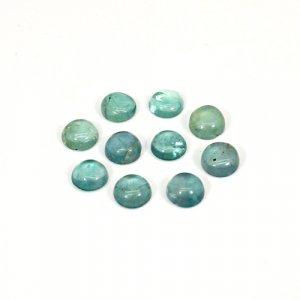 Natural Green Fluorite 6x6mm Round Cabochon 10 Cts 10 Pcs Lot Loose Gemstone