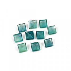 Natural Green Fluorite 6x6mm Square Pyramid Cut 17 Cts 10 Pcs Lot Loose Gemstone