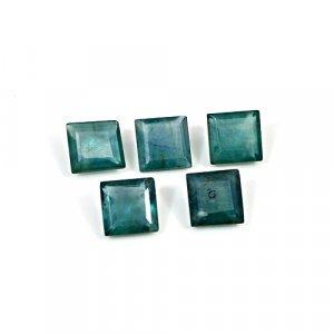 Natural Green Fluorite 7x7mm Square Cut 11.5 Cts 5 Pcs Lot Loose Gemstone
