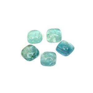 Natural Green Fluorite 8x8mm Cushion Cabochon 13 Cts 5 Pcs Lot Loose Gemstone