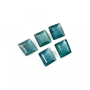 Natural Green Fluorite 9x9mm Square Cut 17.25 Cts 5 Pcs Lot Loose Gemstone