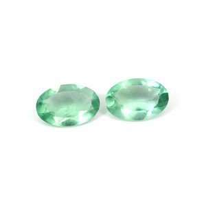 Natural Green Fluorite Oval Cut 1 Pair 12.2 Cts 15x10mm Loose Gemstone