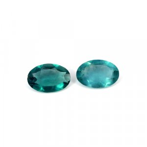 Natural Green Fluorite Oval Cut 1 Pair 14.2 Cts 15x10mm Loose Gemstone