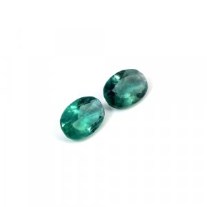 Natural Green Fluorite Oval Cut 1 Pair 8.2 Cts 8x12mm Loose Gemstone