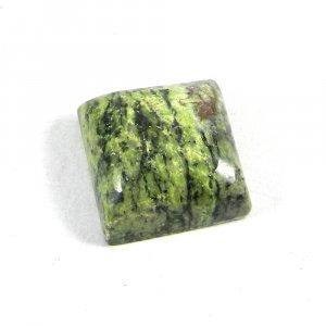 Natural Green Jade 15mm Square Cabochon 16.0 Cts