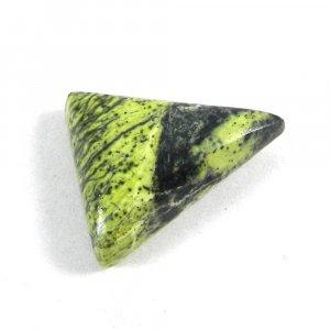 Natural Green Jade 25x21mm Trillion Cabochon 23.5 Cts