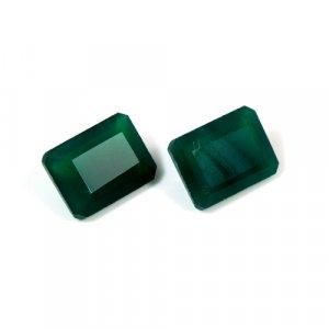Natural Green Onyx Octagon Cut 1 Pair 10x14mm 12.3 Cts Loose Gemstone