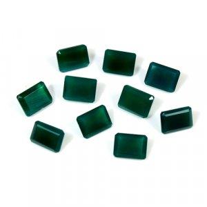 Natural Green Onyx Octagon Cut 1.60 Cts 6x8mm Loose Gemstone