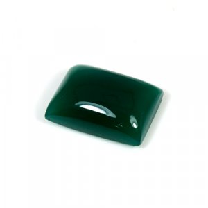Natural Green Onyx Rectangle Cabochon 14.9 Cts 13x18mm Loose Gemstone