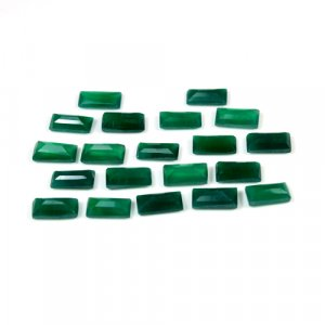 Natural Green Onyx Rectangle Cut 0.75 Cts 8x4mm Loose Gemstone