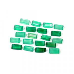 Natural Green Onyx Rectangle Cut 6x4mm 0.35 Cts Loose Gemstone
