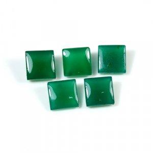 Natural Green Onyx Square Pyramid Cut 2.20 Cts 7x7mm Loose Gemstone