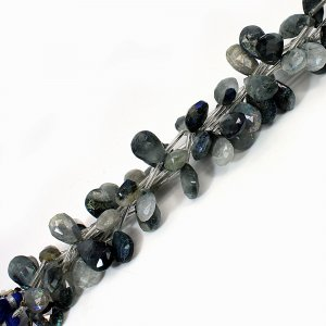 Natural Green Rutile 20-27mm Pear Briolette Beads 8.5 Inch Strand
