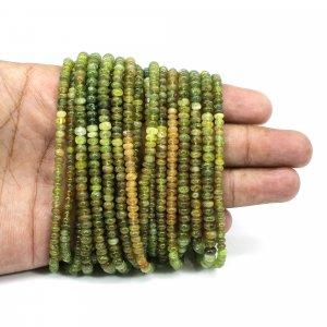 Natural Grossular Garnet 4mm Roundel Smooth Beads 16 Inch Strand