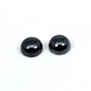Natural Hematite 1 Pair 10mm Round Cabochon 14.90 Cts Loose Gemstone