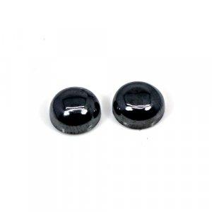 Natural Hematite 1 Pair 9mm Round Cabochon 10 Cts Loose Gemstone