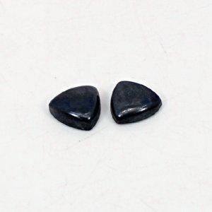 Natural Hematite 10x10mm Trillion Cabochon 8.20 Cts 1 Pair Loose Gemstone