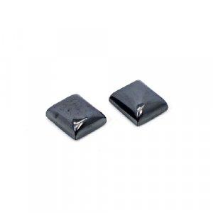 Natural Hematite 12x10mm Rectangle Cabochon 22.15 Cts 1 Pair Loose Gemstone