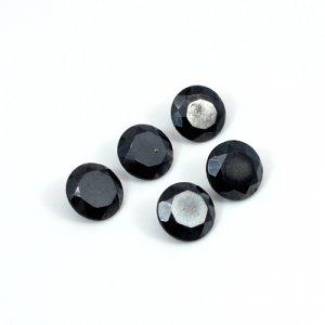 Natural Hematite 5 Pcs Lot 8mm Round Cut 16.80 Cts Loose Gemstone