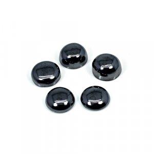 Natural Hematite 5 Pcs Lot 9mm Round Cabochon 27.80 Cts Loose Gemstone