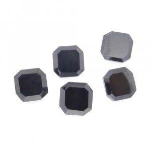 Natural Hematite 8x8mm Cushion Ocatgon Cut 5.04 Cts